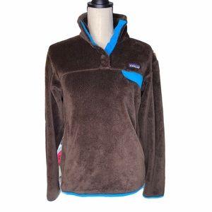 Patagonia T-Snap Brown Blue Fleece Jacket